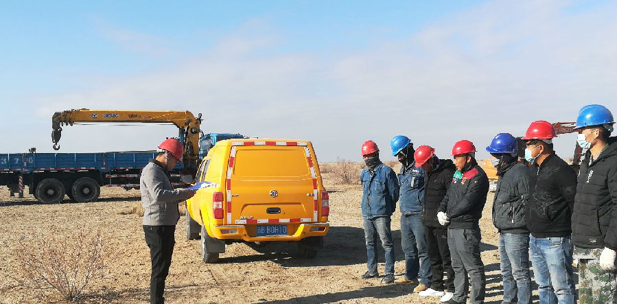 新疆准东(奇台)机场项目施工区
